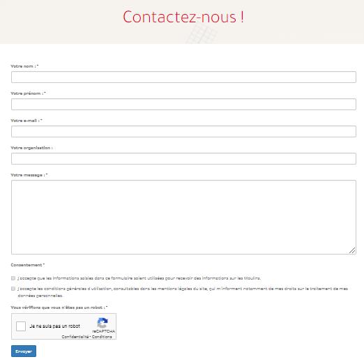 Modele de formulaire de contact
